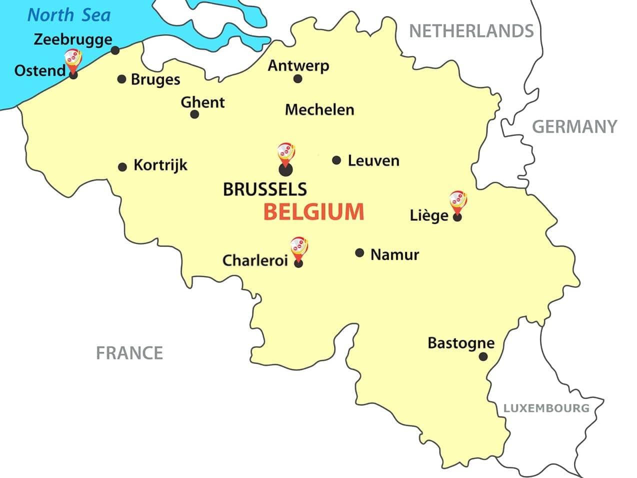 fret aérien chine belgique