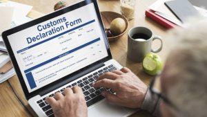 Formulaire déclaration douanes