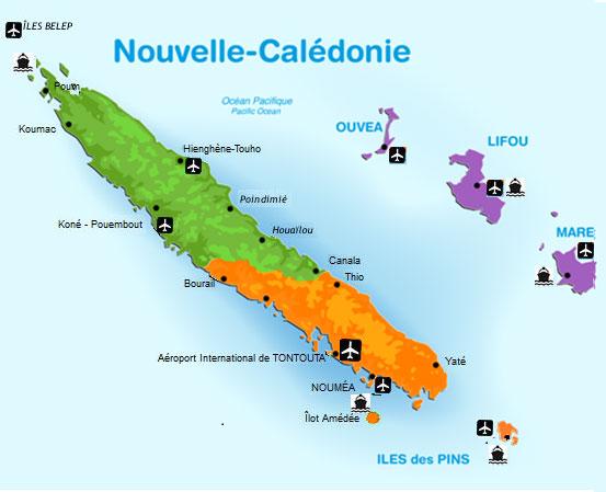 carte nouvell-calédonie