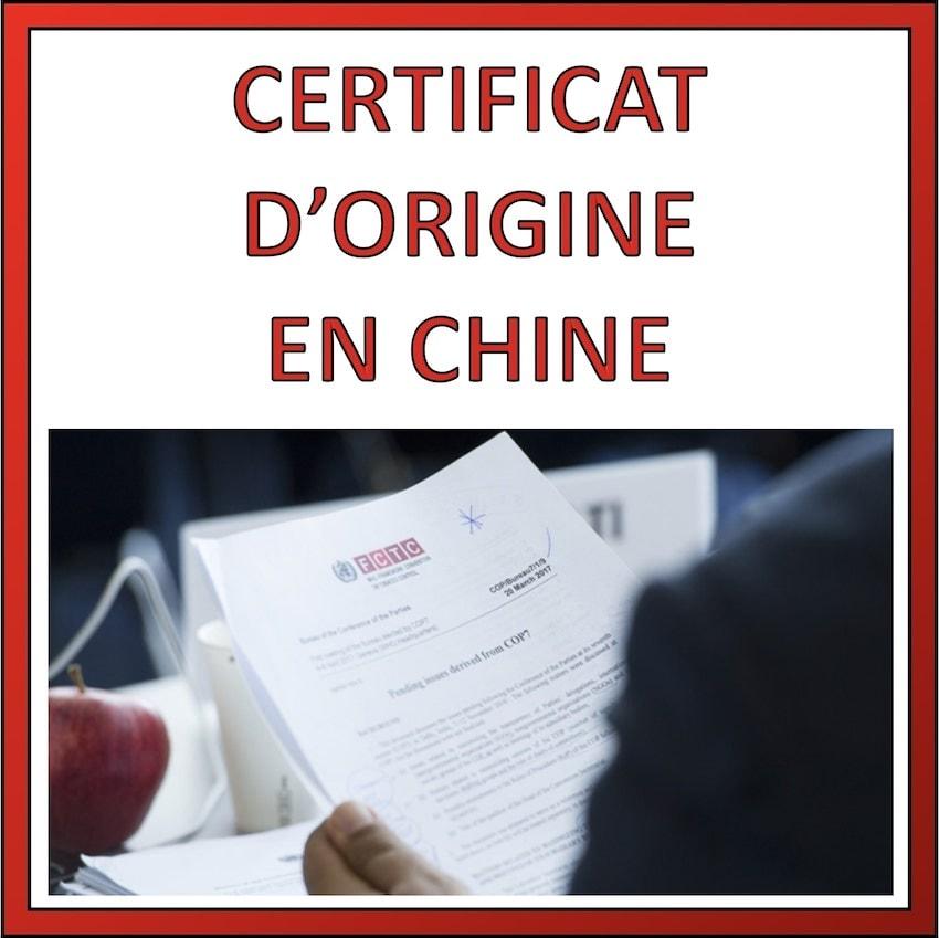certificat d'origine en chine