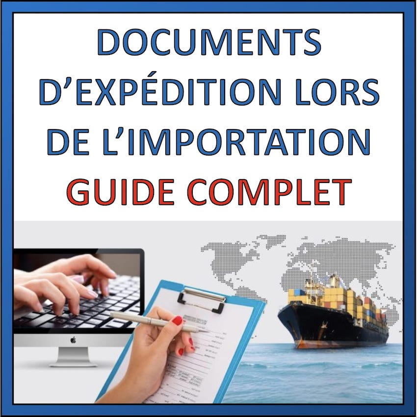 document expéditions produits de chine
