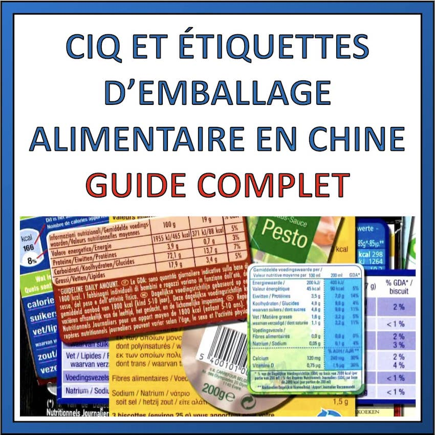 etiquette emballage alimentaire chine