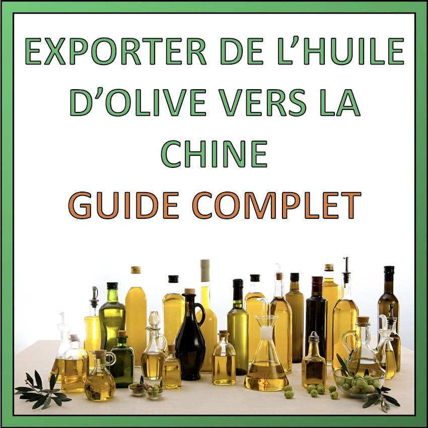 exporter huile olive vers chine