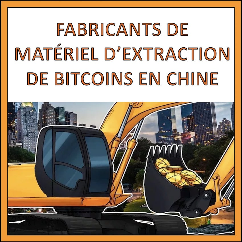 fabricant materiel extraction bitcoin