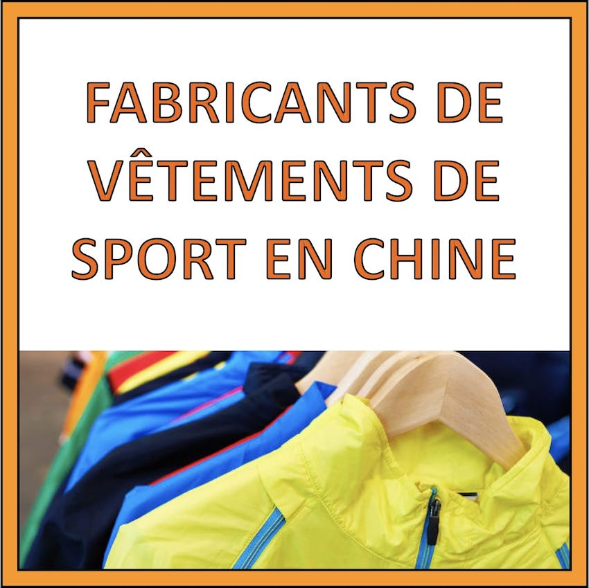 fabricants chine vetements sport