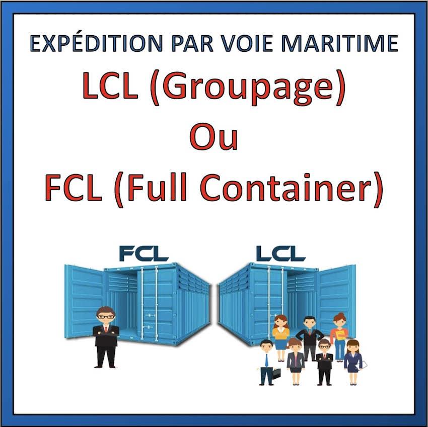 fret maritime lcl ou fcl