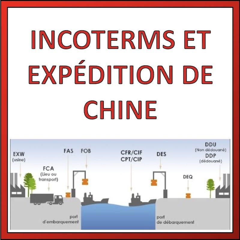 incoterms et expédition de chine