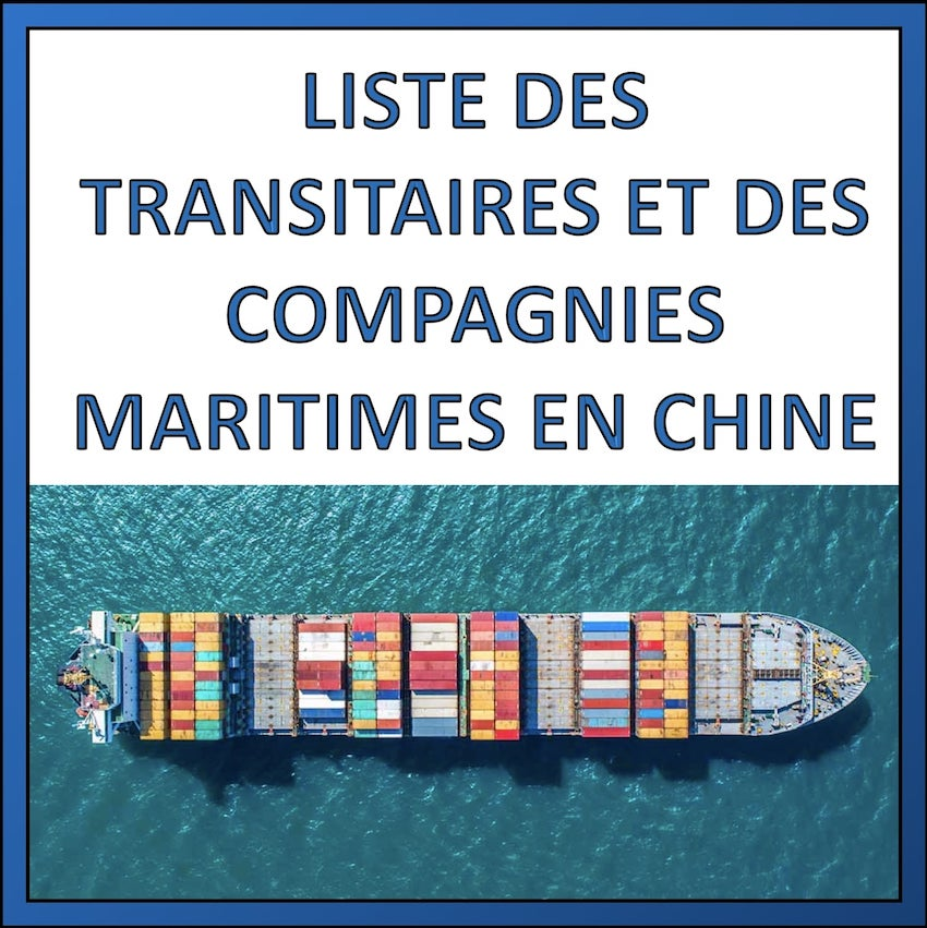 liste transitaire compagnie maritime chine