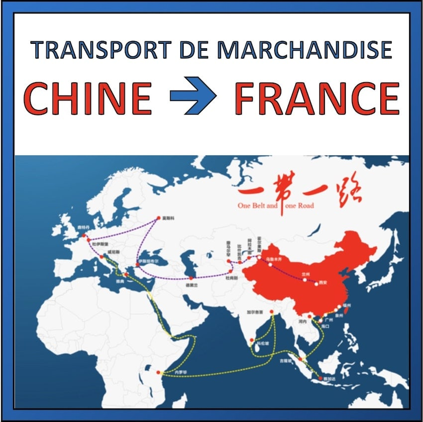 transport de marchandise chine vers france
